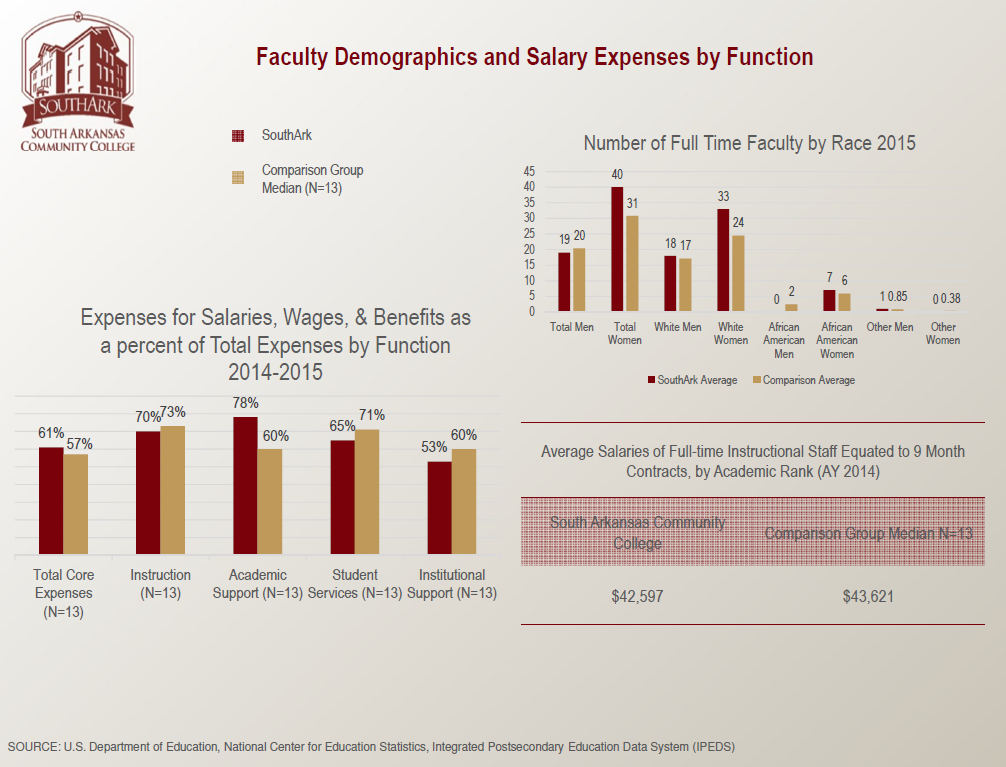 Faculty Demographics and Salary Expenses by Function