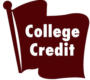 college credit flag