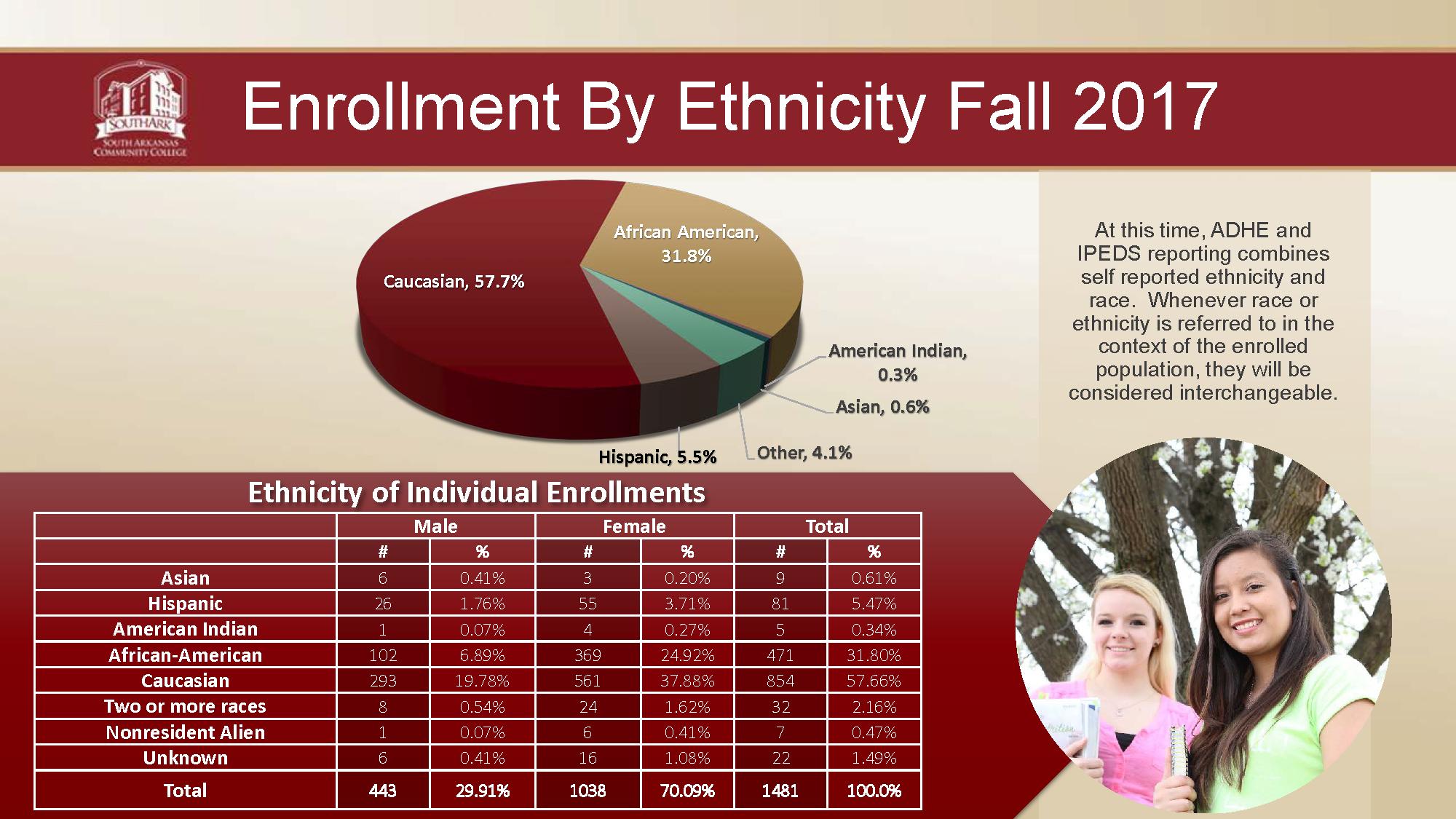 Enrollment by Ethnicity 2017